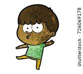 cartoon curious boy   Shutterstock .eps vector #726069178
