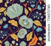 vector seamless pattern with... | Shutterstock .eps vector #726072760