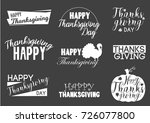 typographic thanksgiving logo... | Shutterstock .eps vector #726077800