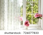 window with curtains  and... | Shutterstock . vector #726077833