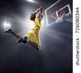 Basketball Player On Big...
