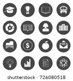 education icons set | Shutterstock .eps vector #726080518