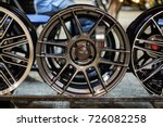 alloy wheels are arranged for... | Shutterstock . vector #726082258