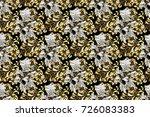paisleys elegant floral raster... | Shutterstock . vector #726083383