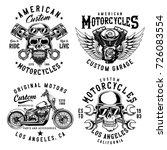 set of vintage emblems  logos ... | Shutterstock . vector #726083554