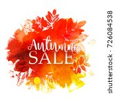 autumn sale vector background... | Shutterstock .eps vector #726084538