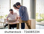 young asian business people ... | Shutterstock . vector #726085234