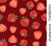 vector seamless strawberry... | Shutterstock .eps vector #726086314