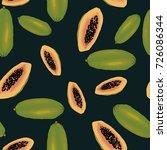 vector papaya background... | Shutterstock .eps vector #726086344