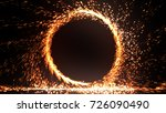 abstract fire ring of fire... | Shutterstock . vector #726090490