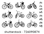 bicycles. set of different... | Shutterstock .eps vector #726090874