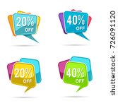 sale and discount label sticker ... | Shutterstock .eps vector #726091120