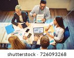 creative business team finished ... | Shutterstock . vector #726093268