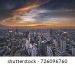 land scape building in bangkok... | Shutterstock . vector #726096760