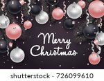 christmas and new year... | Shutterstock .eps vector #726099610