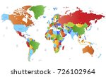 color world map | Shutterstock .eps vector #726102964