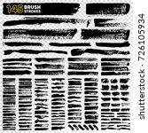 145 brush strokes set of... | Shutterstock .eps vector #726105934