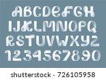 alphabet vector of paper...   Shutterstock .eps vector #726105958
