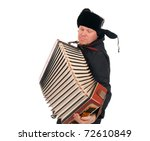 Russian Man With Accordion...