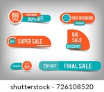 sale banner collection ... | Shutterstock .eps vector #726108520