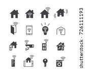smart home and technology icons ... | Shutterstock .eps vector #726111193