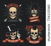 original gangster or pirate... | Shutterstock . vector #726115360