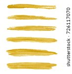 gold yellow paint vector... | Shutterstock .eps vector #726117070