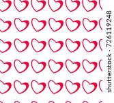 seamless pattern of hearts on a ... | Shutterstock .eps vector #726119248