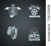 set of retro vintage logotypes  ... | Shutterstock .eps vector #726122008