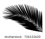 palm leaf. silhouette.vector... | Shutterstock .eps vector #726122620
