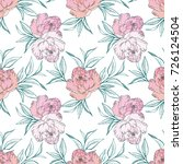 floral seamless pattern with... | Shutterstock . vector #726124504