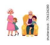 vector flat grandparents and... | Shutterstock .eps vector #726126280