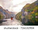 geiranger kayak | Shutterstock . vector #726132904