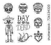 dia de los muertos   day of the ... | Shutterstock .eps vector #726134320