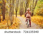 travel concept young woman walk ... | Shutterstock . vector #726135340
