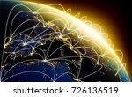 global network concept with... | Shutterstock . vector #726136519