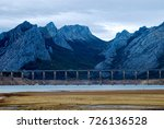 view of dry reservoir  with a... | Shutterstock . vector #726136528