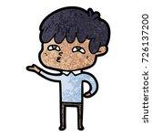 cartoon curious man   Shutterstock .eps vector #726137200