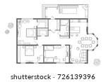 architectural plan of the house.... | Shutterstock .eps vector #726139396