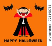 count dracula wearing black and ... | Shutterstock .eps vector #726140758