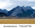 view of dry reservoir  with a... | Shutterstock . vector #726142750