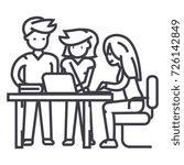 startup office team project... | Shutterstock .eps vector #726142849