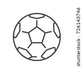 soccer ball football vector... | Shutterstock .eps vector #726143746