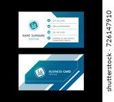 business card template design... | Shutterstock .eps vector #726147910
