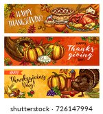 thanksgiving day greeting... | Shutterstock .eps vector #726147994