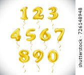 raster copy yellow number 1  2  ... | Shutterstock . vector #726148948