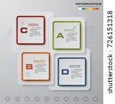 modern 4 steps process. simple... | Shutterstock .eps vector #726151318