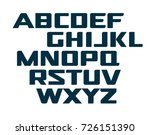 digital uppercase alphabet.... | Shutterstock .eps vector #726151390