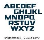digital uppercase alphabet.... | Shutterstock .eps vector #726151390