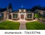 luxury house  home  at  dusk ... | Shutterstock . vector #726152746